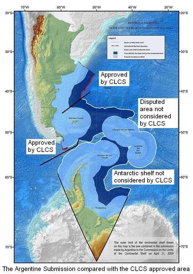 Delimitation of the Argentine Continental Shelf